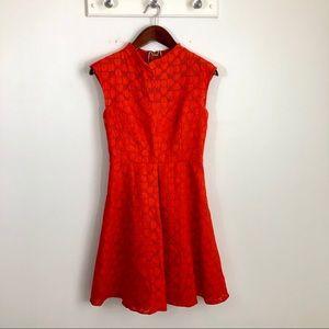 Milly Textured A-line Burnt Orange Dress 6